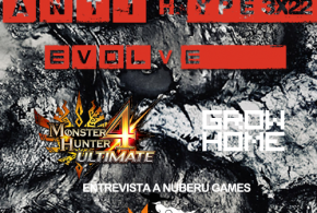 "<small class=""subtitle""> Nos quitamos la chaqueta: ¡amamos a Molinete! (bueno, sólo Kike) </small> AntiHype 3×22: Evolve, Monster Hunter 4: Ultimate, Grow Home y entrevista Nuberu Games"
