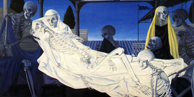 the-deposition cuadro de delvaux el divan del señor muñoz